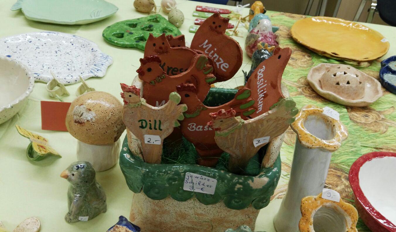 Ostern mit der Töpfergruppe des Sozialdienstes