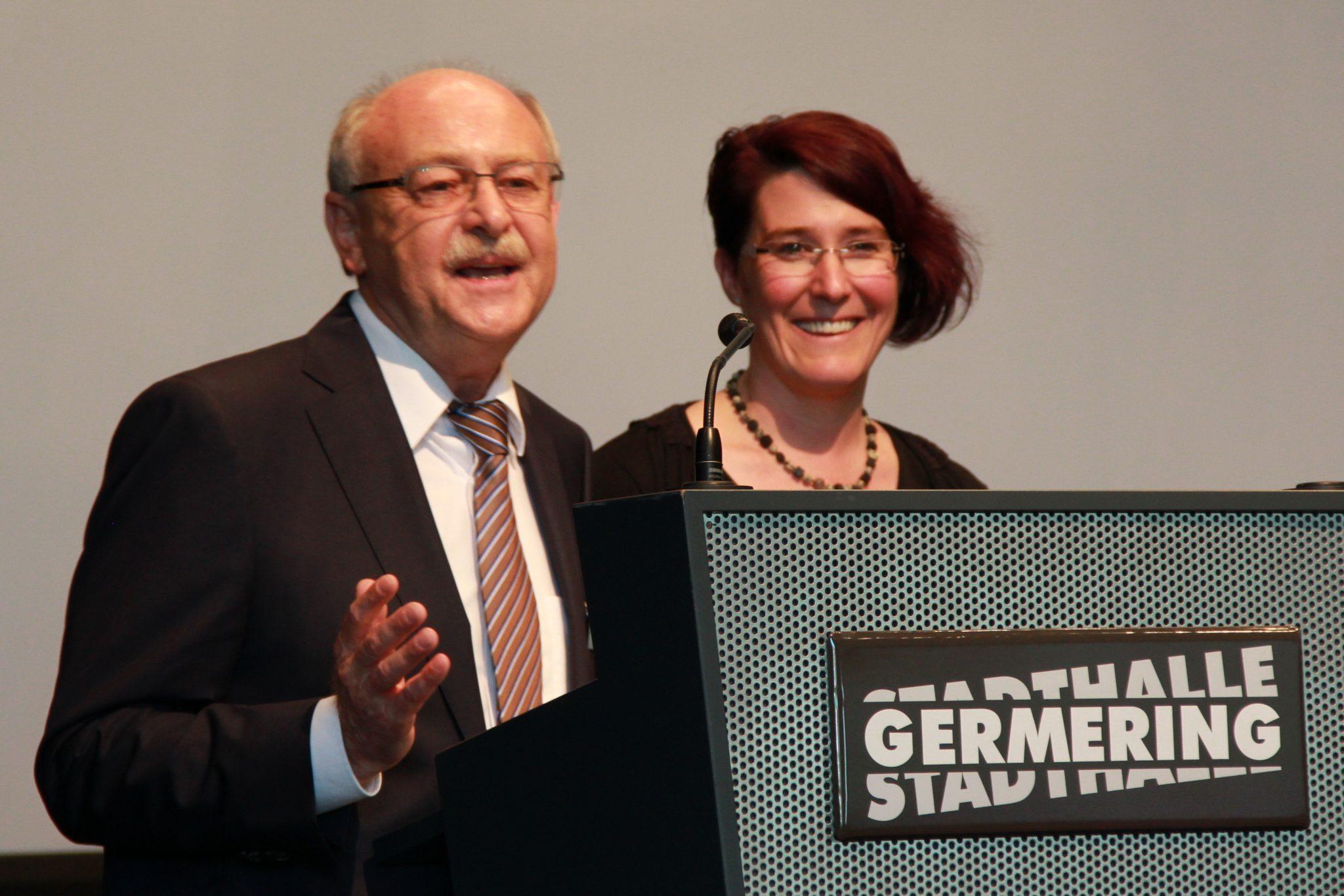 Der Vorstand des Sozialdienstes Georg Sedlmeier und Ingrid Neubauer
